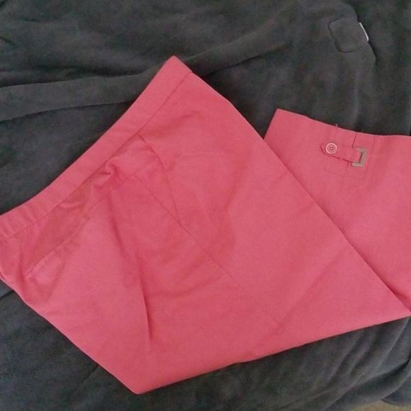 Larry Levine Woman Pants - Orange capris